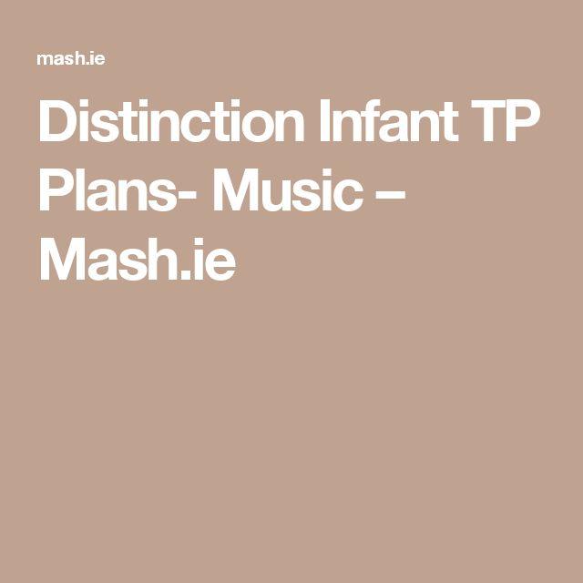 Distinction Infant TP Plans- Music – Mash.ie