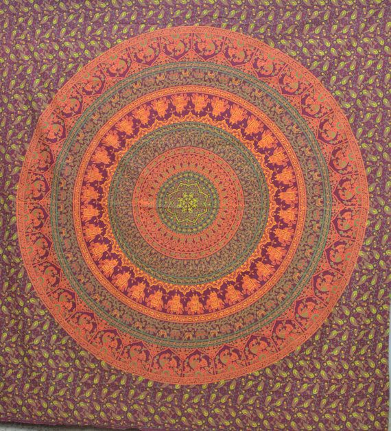 Hippie Hippy Wall Hanging, Bed Cover,Indian Mandala Chakra tapestry,  Bed Spread Wall art,Handmade bed sheet, Table cloth,Curtain,Wall Decor on Etsy, $18.99