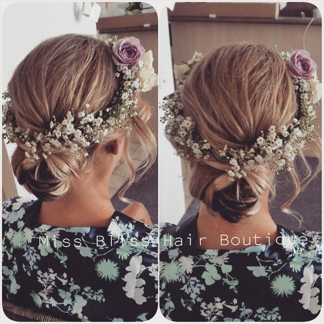 Love this look for a gorgeous boho wedding hair done by Kristy for Miss Bliss.  www.missblisshair.com.au