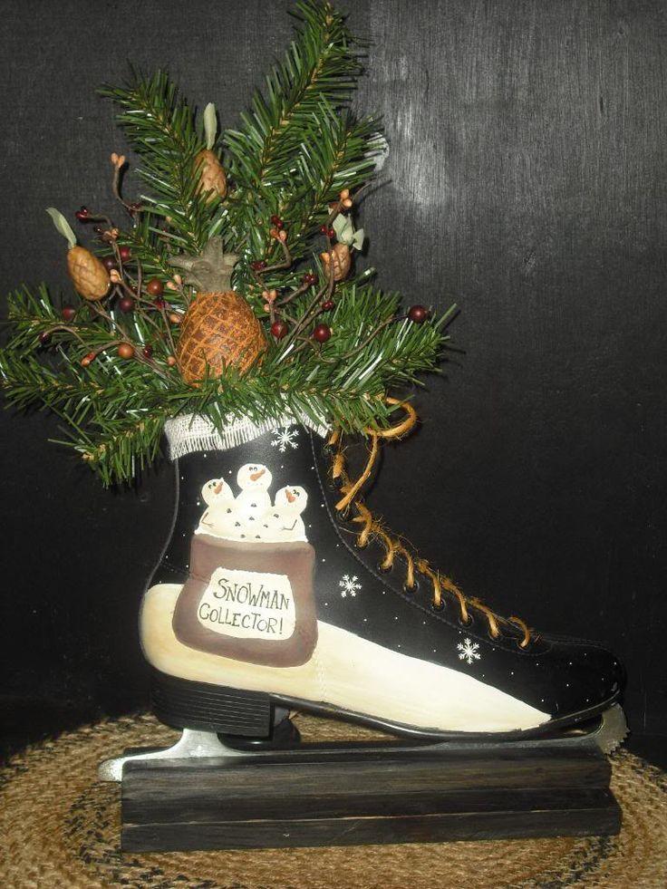 C & C Furnishings: hand painted ice skate