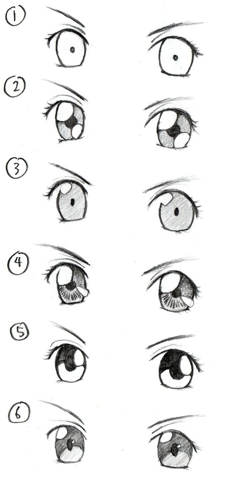 step by step how to draw eyelashes