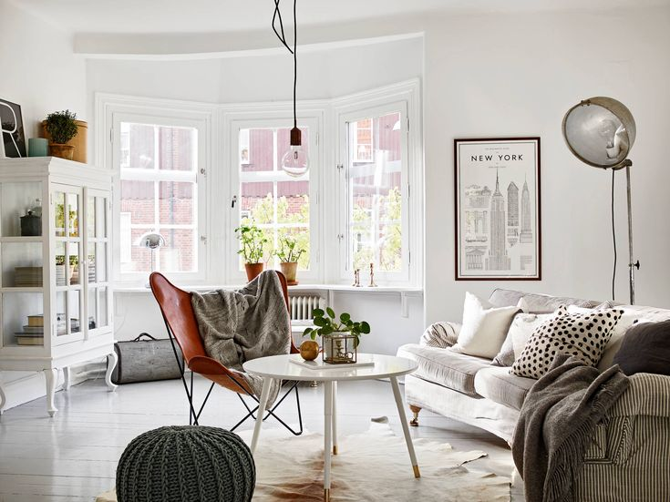 Reminds me of Hayley. Classic and mid-century modern combined into a cozy Swedish home