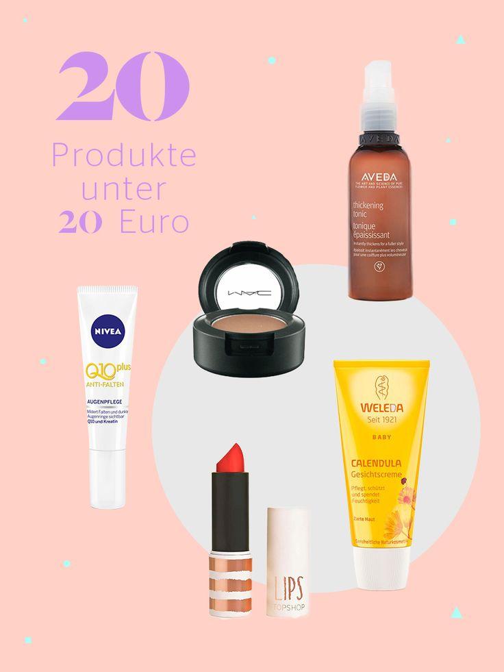 Die 20 besten Beauty-Produkte unter 20 Euro