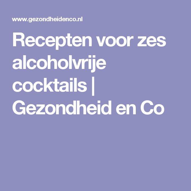 Recepten voor zes alcoholvrije cocktails | Gezondheid en Co
