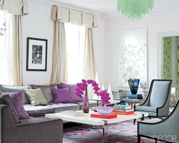 Home, belonging to Jeanine Lobell and Anthony Edwards.  Designed by Raphael de Cardenas, via Elle Decor