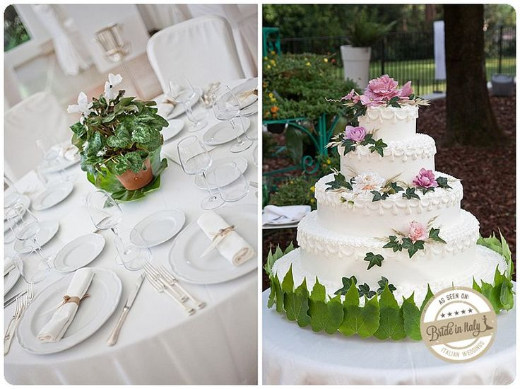 I love wedding cakes decorated with true flowers and leaves, ph WhitePhotography http://www.brideinitaly.com/2013/05/whitephotography-caiazzo.html #italianstyle