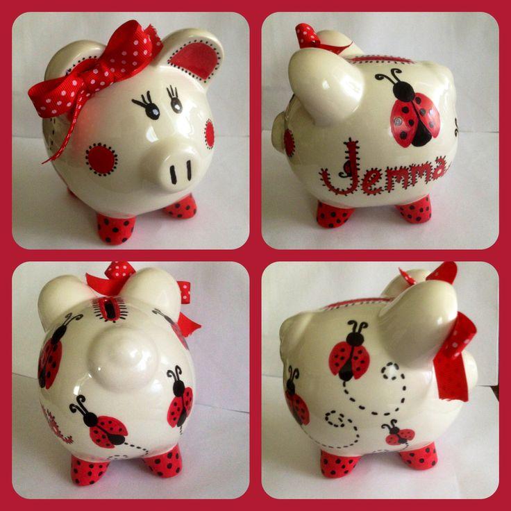 Lady bug piggy bank