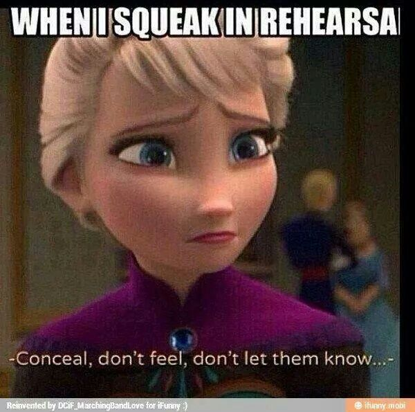 Back in the percussion section it is more noticable if you mess up at all....
