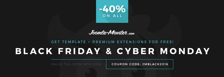Black Friday Kick OFF! Grab best #Joomla #tempaltes 40% OFF! #BlackFriday #JBlackFriday #sale #discount #offer