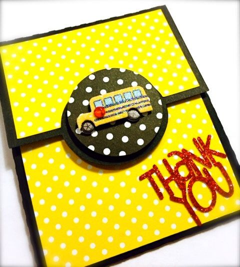 Bus Driver Gift Card Holder by SimplySarahElyse on Etsy https://www.etsy.com/listing/191173189/bus-driver-gift-card-holder