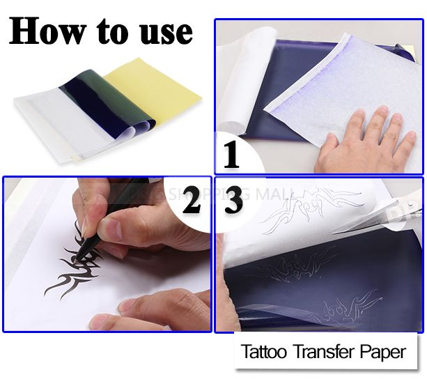 Transfer paper for tattoos