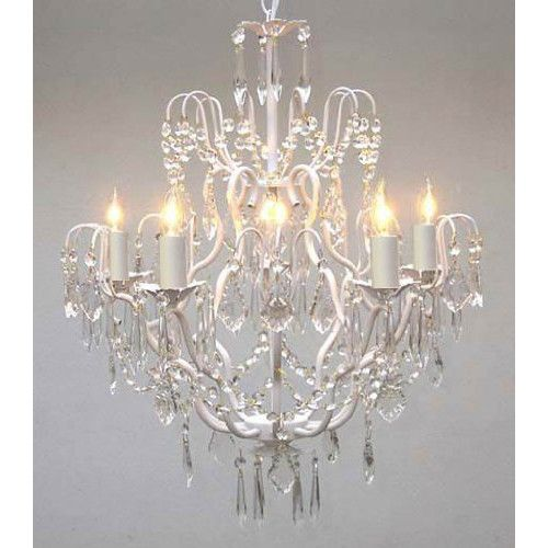 Crystal chandelier with shades best led chandelier lamp e modern elegant harrison lane versailles light crystal chandelier with crystal chandelier with shades aloadofball Gallery