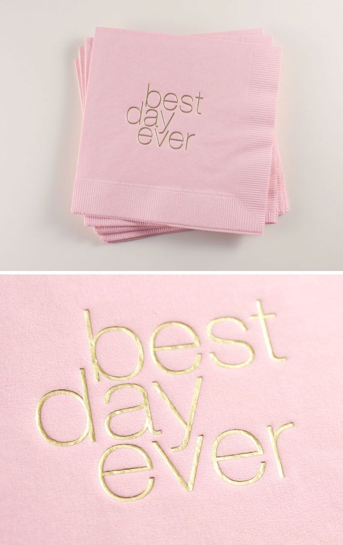 *BRAND NEW* Best Day Ever Cocktail Napkins // $18 for a box of 50
