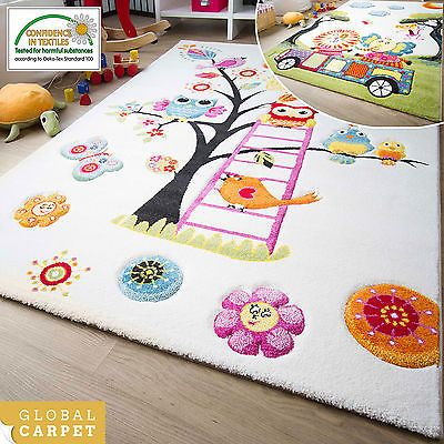 Modern kids rug modena #childrens rugs #collection owl #elephant lion colourful m,  View more on the LINK: 	http://www.zeppy.io/product/gb/2/281814823562/