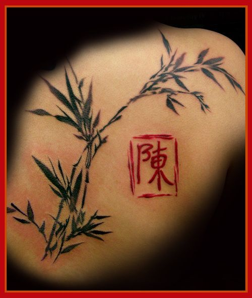 Tattoo Designs Japanese Names: Watercolor Bamboo... – Tattoo