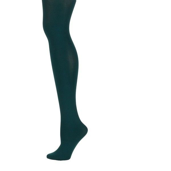 Hue Women's Super Opaque Tights ($15) ❤ liked on Polyvore featuring intimates, hosiery, tights, deep green, green tights, opaque hosiery, green pantyhose, hue stockings and opaque tights