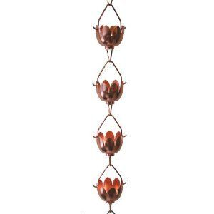 Rain Chains - Stanwood Rain Chain Lotus Lily Flower Extension Copper Rain Chain 4Feet ** Click image to review more details. (This is an Amazon affiliate link)