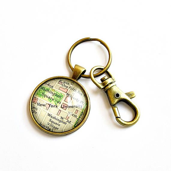 Choose Your Hometown Or College Town For Our Custom Map Keychain To Make Unique High School