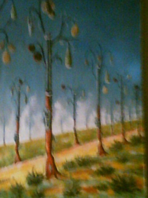la plantation de la haine - Painting,  65x80 cm ©2008 by Mohamed Sakhri -