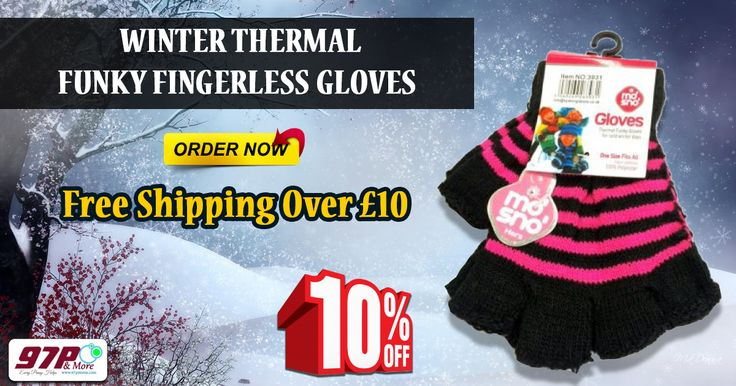 Buy Winter Thermal Funky Fingerless Gloves for £1.97 with free shipping. buy today get 10% off and apply coupon code as 4pound10. http://www.4pound.co.uk/winter-thermal-funky-gloves