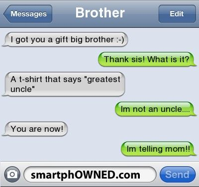Brothers..... - - Autocorrect Fails and Funny Text Messages - SmartphOWNED
