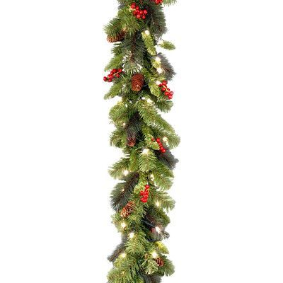 National Tree Co. Crestwood Spruce Pre-Lit Garland