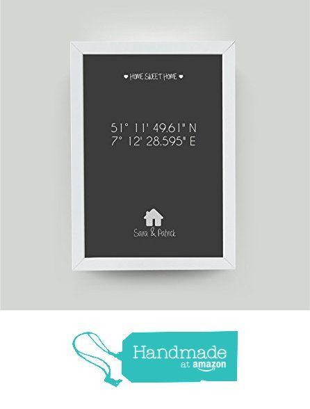 """personalisiertes Bild """"HOME SWEET HOME Haus"""" mit Rahmen, Geschenk zum Umzug, Geschenk zum Einzug, tolles Einzugsgeschenk, Umzugsgeschenk, Einweihungsgeschenk von der 321geschenkede https://www.amazon.de/dp/B06X9SPG4G/ref=hnd_sw_r_pi_dp_iuyezbBFCBD4M #handmadeatamazon"""