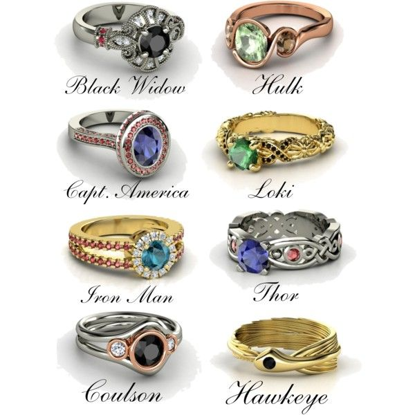 I don't know about as an engagement ring, but an anniversary ring inspired by Loki or Thor or Captain would be fantastic.