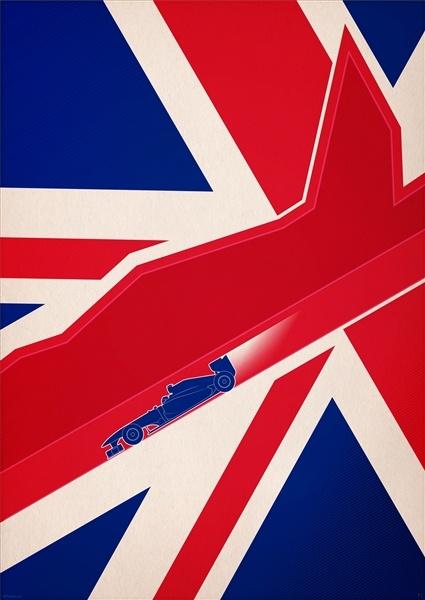 PJ Tierney F1 2012: British Grand Prix poster