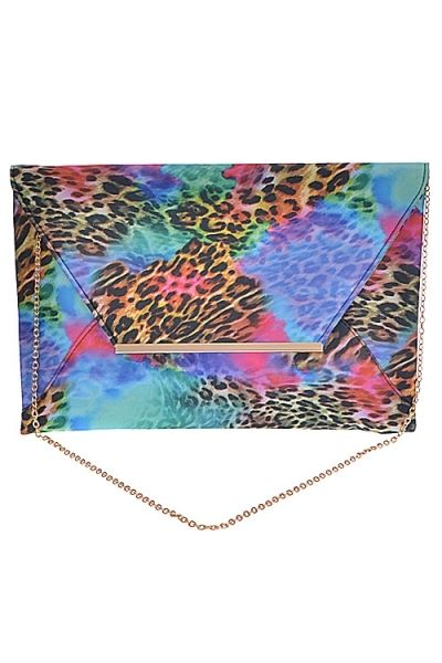 Leopard Multi Colored Clutch · Nique's Online Boutique · Online Store Powered by Storenvy