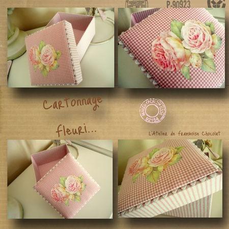cartonnage fleuri