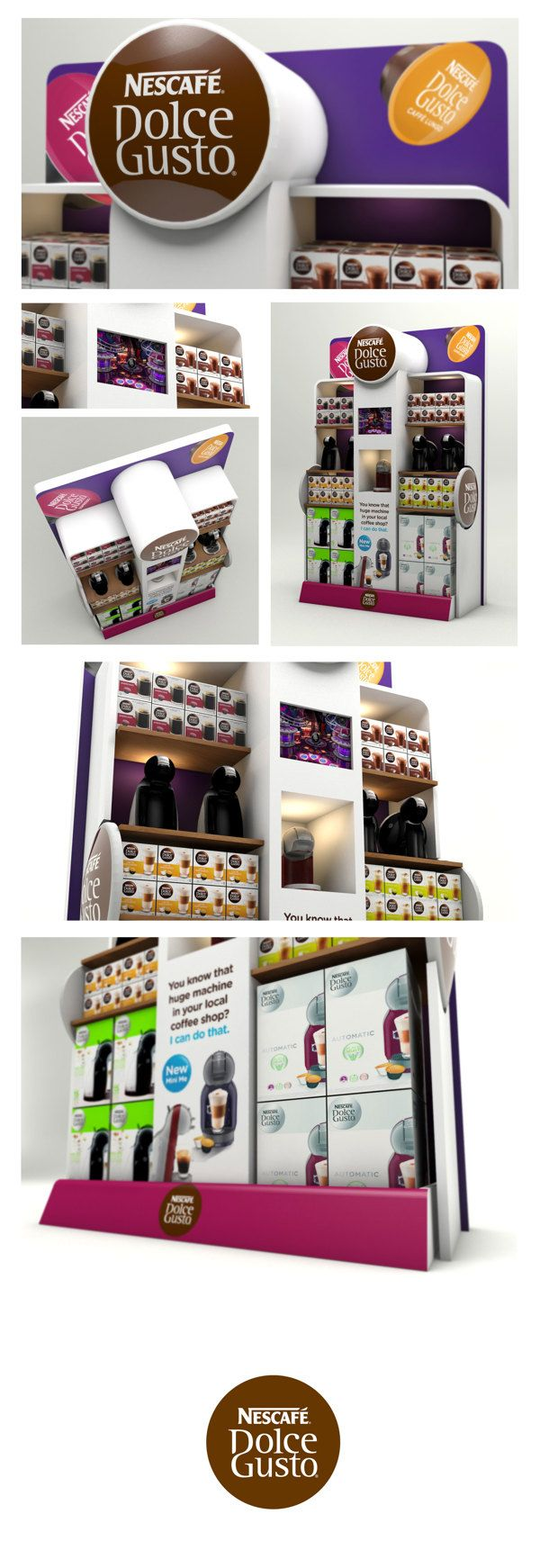 Dolce Gusto Retail Display by Neil Colley, via Behance