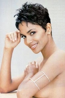 Halle Berry Beautiful African American Short Pixie Hairstyles