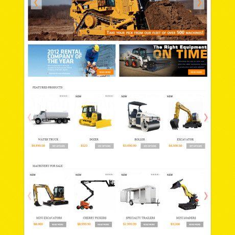 Machinery Company Website Design