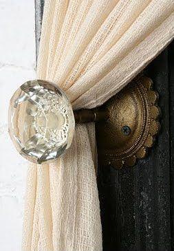 vintage curtain rod ideas - Google Search
