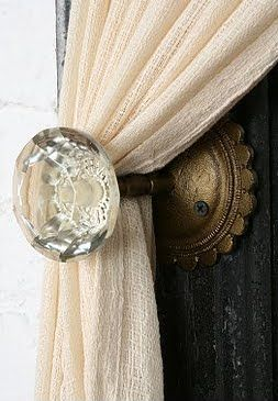 vintage curtain rod ideas - Google Search