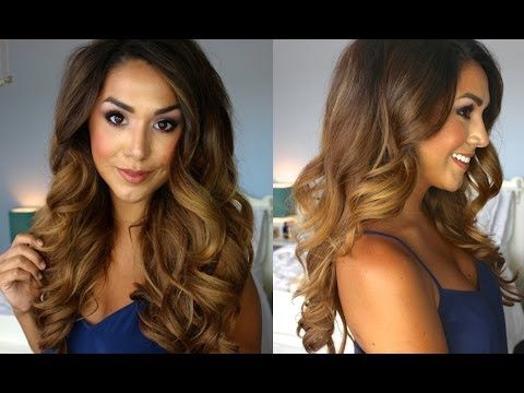 Big Glamorous Curls | Lilly Ghalichi Inspired This is a good idea to do even without the hair extensions.