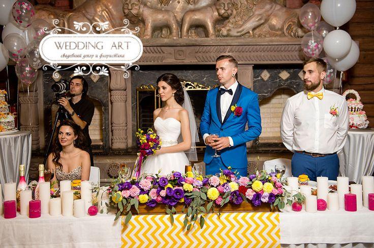 Малиновая свадьба - Свадебный декор и флористика Wedart.com.ua