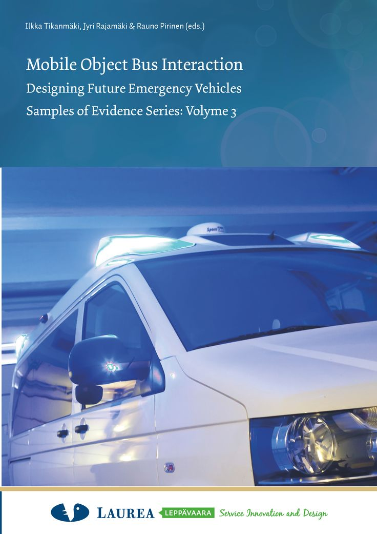 || 24. Tikanmäki etc. – Mobile Object Emergency Vehicles. Samples of Evidence Series. Volume 3. (2014)  This report depicts the research project MOBI (Mobile Object Bus Interaction). The project aimed to create a common international ICT infrastructure for all Puclic Protection and Disaster Relief vehicles, based on better integration of ICT systems, applications, and services.