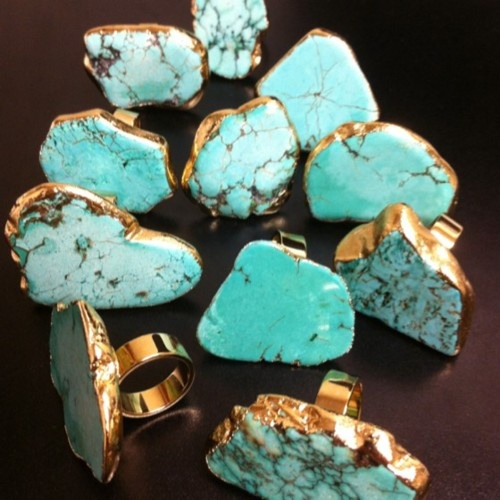 MUST HAVE!!Turquois Rings, Turquois Slab, Turquois Jewelry, Stones Rings, Slab Stones, Ceek Jewelry, Turquoise Rings, Accessories, Jewelry Turquois