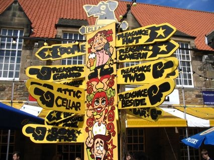 The Edinburgh Festival: Fringe - Edinburgh Scotland. Lots of free street entertainers / comedy and dance - great fun :D