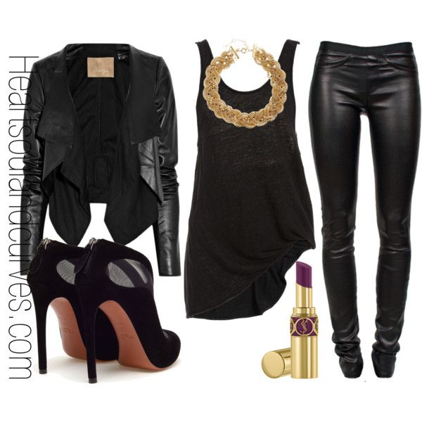 Love it all...Max Azria jacket, Helmut Lang leather pants, Azzedine Alaia boots