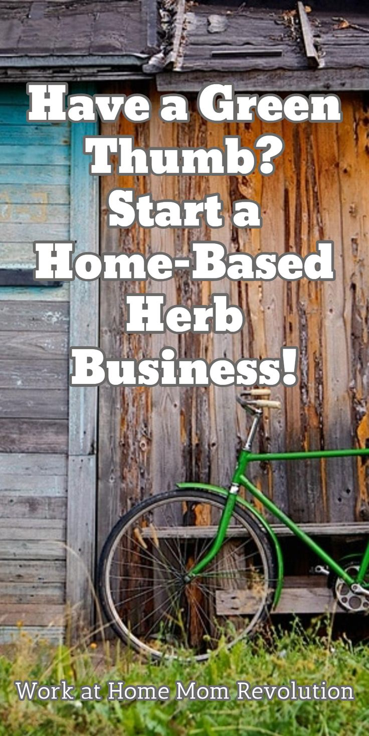 Have a Green Thumb?  Start a Home-Based Herb Business! / Work at Home Mom Revolution