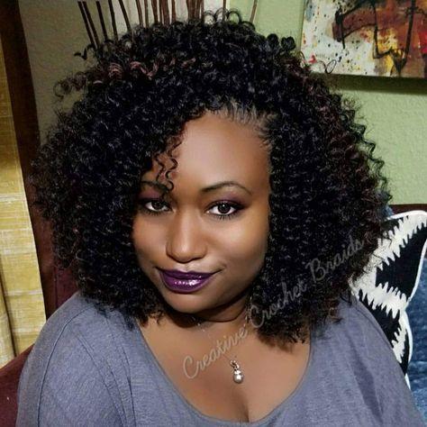 "121 Likes, 3 Comments - Creative Crochet Braids (@creativecrochetbraids) on Instagram: ""Kima Braid - Bohemian Curl 22"", #1B, #33 highlights. Ms. Shemeka. #crochetbraids…"""