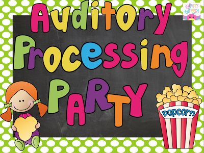 Simply Speech: Auditory Processing Party! {Giveaway} Ends 11/27/13. Pinned by SOS Inc. Resources. Follow all our boards at pinterest.com/sostherapy for therapy resources.