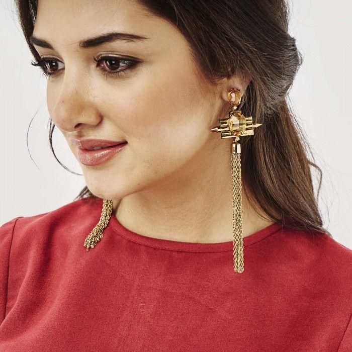 Amber Fringe Earrings