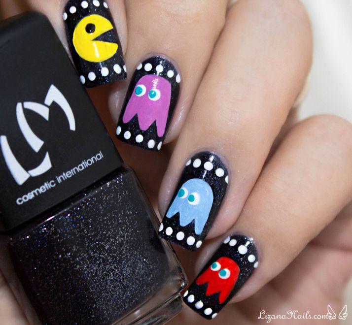 Nail Art - Pacman / Nailstorming Jeux Vidéo