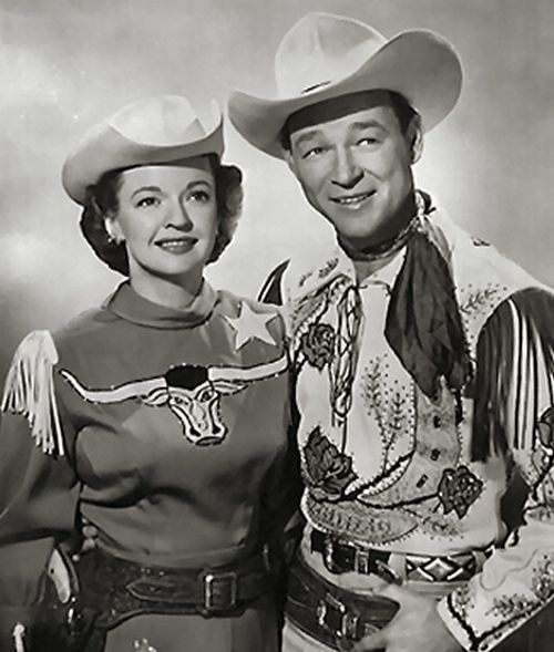 Dale Evans and Roy Rogers for 'The Roy Rogers Show', 1951: Dale Evans, Happy Trail, Remember, Roy Roger, Heroes, Cowboys, Stars, 50S, People