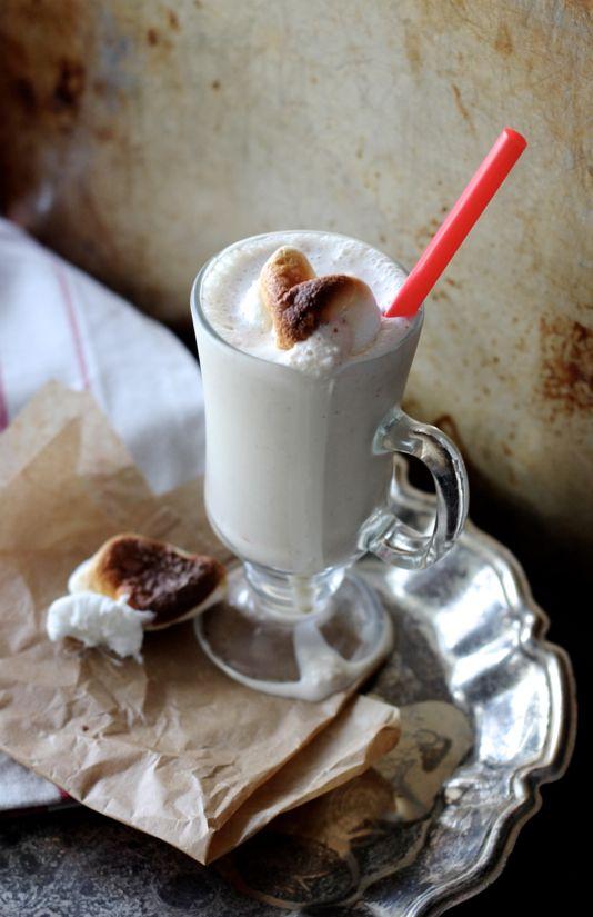 Roasted Marshmallow Milkshakes