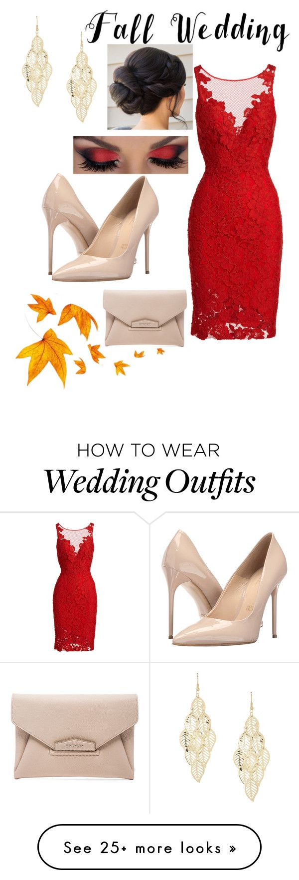 """""""Fall Wedding: Guest"""" by whynterthyme on Polyvore featuring ML Monique Lhuillier, Massimo Matteo, Givenchy and fallwedding"""